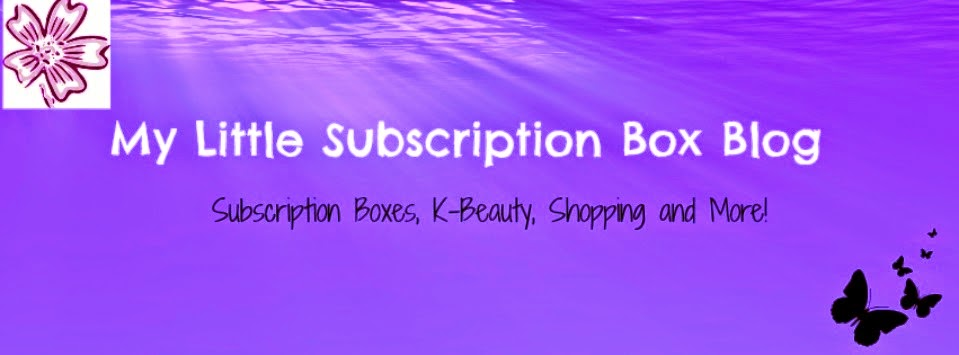 MY LITTLE SUBCRIPTION BOX BLOG